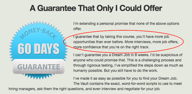 IWT 60-day guarantee - sales objections